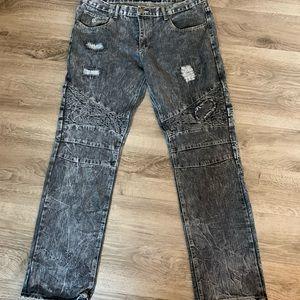 Rocawear Acid Denim Straight Jeans